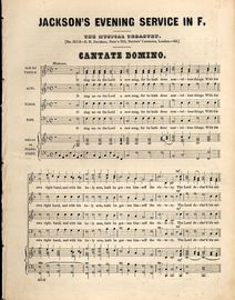Jackson's Evening Service in F - No. 551 & 552 of the Musical Treasury