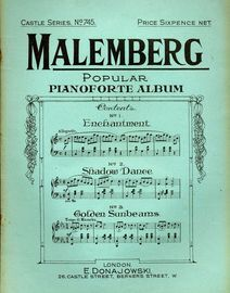 Malemberg Popular Pianoforte Album - Castle Series No. 745
