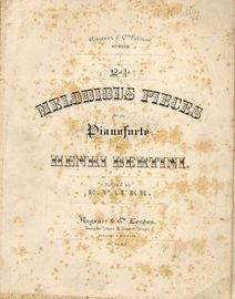24 Melodious Pieces for the Pianoforte - Augener and Co. edition No. 8058