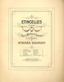 Le Bon Vieux Temps (Old Acquaintances) - No. 7 from Etingelles (Sparks) Series of Short Melodious Sketches
