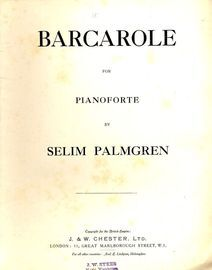 Barcarole for the Pianoforte