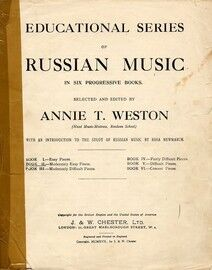 Educational Series of Russian Music in 6 progressive books - Book I - Easy Pieces