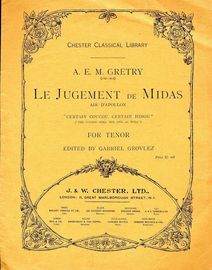 Le Jugement de Midas - The Cuckoo Bird, The Owl as Well - For Tenor
