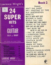 Lawrence Wright's 24 Super Hits - Book Two - For Guitar Solo and Group