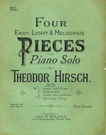 Under the Lindens - No. 3 from Four Easy, Light and Melodious Pieces for Piano Solo series