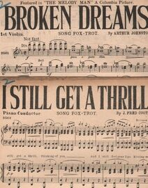 DANCE BAND with Vocals:- (a) BROKEN DREAMS- Song Fox-Trot   (b) I STILL GET A THRILL- Song Fox-Trot