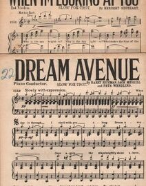DANCE BAND with Vocals:- (a) DREAM AVENUE- Slow Fox-Trot   (b) WHEN I'M LOOKING AT YOU- Slow Fox-Trot, featured in the M.G.M. Film Operetta
