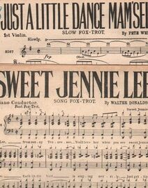 DANCE BAND with Vocals:- (a) Sweet Jennie Lee- Song Fox-Trot   (b) Just a Little Dance Mam'selle- Slow Fox-Trot