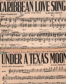 DANCE BAND with Vocals:- (a) Under a Texas Moon- Slow Fox-Trot, featured in