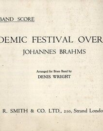 Brahms - Academic Festival Overture - Op. 80 - Brass Band Score