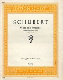 Moment Musical in F Minor for Piano - Op. 94, No. 3 - Edition Schott 0697