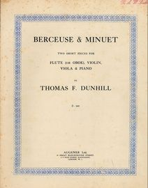 Berceuse & Minuet - Two Short Pieces for Flute (or oboe), Violin, Viola & Piano