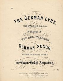 The Garland -  No. III Vol. V from The German Lyre (Deutsche Lyra) series of German Songs with Original Words and Elegant English adaptions - For Pian