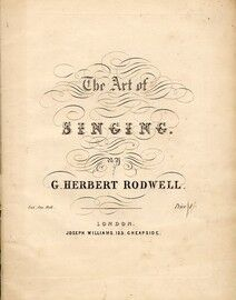 G. Herbert Rodwell - The Art of Singing