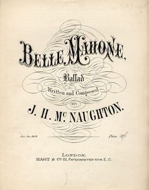 Belle Mahone - Ballad - For Piano and Voice