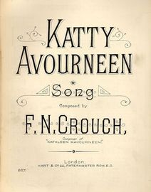 Katty Avourneen - Song - Hart and Co. Edition No. 867 - For Piano and Voice