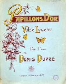 Papillons d'Or (Golden Butterlies) - Valse Legere for Piano Solo