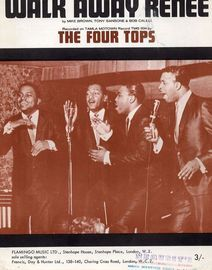 Walk Away Renee - Recorded on Tamla Motown Record TMG 634 by The Four Tops - For Piano and Voice with chord symbols