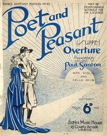 Poet and Peasant Overture - For the Piano with Violin and Cello Ad Lib. - Banks Sixpenny Edition No. 43