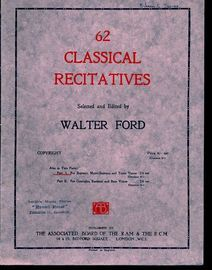 62 Classical Recitatives - Part I, No.'s 1-33 - For Soprano, Mezzo-Soprano and Tenor Voices