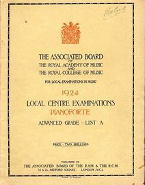 The Associated Board of the Royal Academy of Music and The Royal College of Music for Local Examinations in Music - 1924 Local Centre Examinations for
