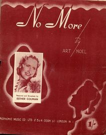 No More - Song - Featuring Esther Colman