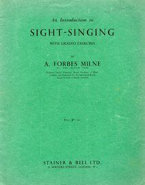 An introduction to sight singing with graded exercises