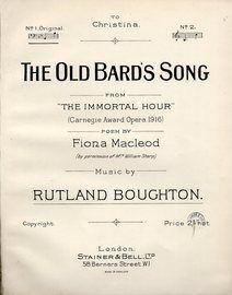 The Old Bard's Song - From (