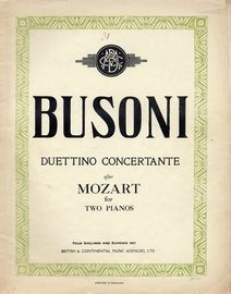 Duettino Concertante - For Two Pianos, Four Hands