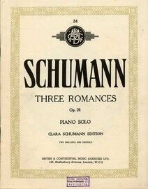 Schumann - Three Romances - Op. 28 - Piano Solo - Clara Schumann Edition