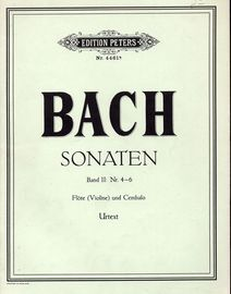 Bach - Sonaten - Band II: Nr. 4-6 - Flote (Violine) und Cembalo -Edition Peters No. 4461b