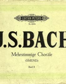 J. S. Bach - Mehrstimmige Chorale - Edition Peters Nr. 4264b Band II