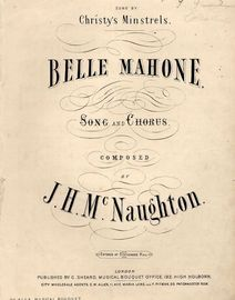 Belle Mahone - Song and Chorus - Sung by Christy Minstrels - Musical Bouquet No. 4124