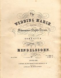 The Wedding March from The Midsummer Night's Dream