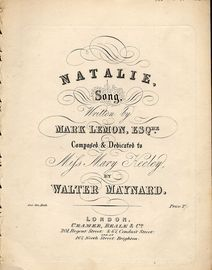 Natalie - Song - Composed and Dedicated to Mifs Mary Keeley