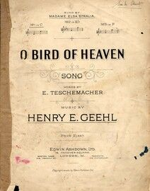 O Bird of Heaven - Song in the key of C major for lower voice