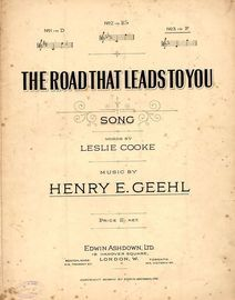 The Road That Leads To You - Song - In the key of F major for high voice