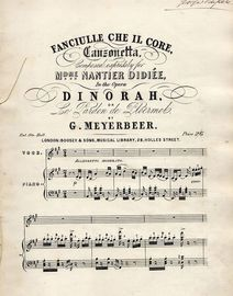 Fanciulle Che Il Core - Canzonetta - Composed expressly for Mdme Nantier Didiee in the Opera \