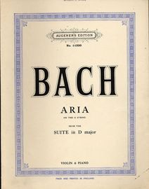 Bach - Aria on the G string from the suite in D major - Violin and Piano - Augener's Edition No. 11320