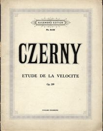 Czerny  - Etude de la Velocite - Op. 299 - Augener's Edition No. 8109 - English Fingering