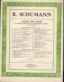 Knight Rubert, Op. 68, No. 12 - From Album For The Young by R. Schumann. Album for Piano - 56 pieces arranged in progressive order by T. Kullak