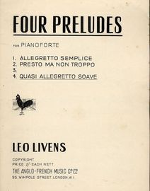 Quasi allegretto soave - Prelude - No. 4 from \