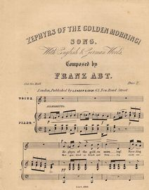 Zephyrs of the Golden Morning - Song with English and German Words