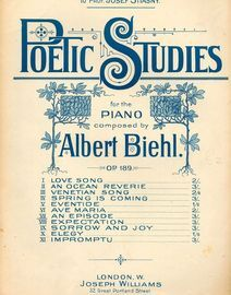 An Episode - Poetic Studies for the Piano No. 7 - Op. 189 - For Piano Solo