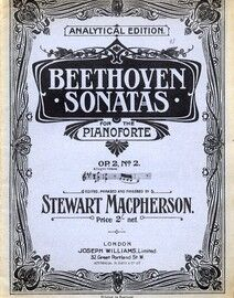 Beethoven - Sonata for Piano -  Op. 2, No. 2 - Analytical Edition - Beethoven Pianoforte Sonatas Series No. 2