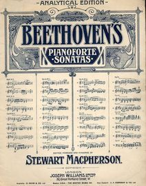 Beethoven - Sonata in G major - Op. 49, No. 2 - Analytical Edition - No. 20 from Beethoven Pianoforte Sonatas series