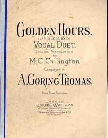Golden Hours (Les Heures D'or) - Vocal Duet with Piano accompaniment