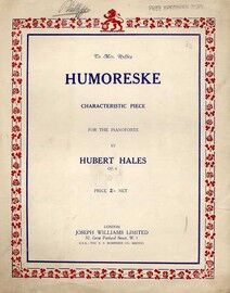 Hales - Humoreske for the Piano - Op. 6