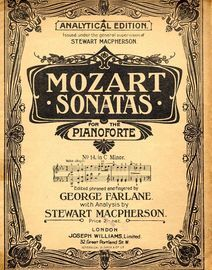 Mozart - Sonata No. 14 in C Minor -  From Mozart Sonatas for the Pianoforte - Analytical Edition
