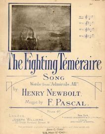 The Fighting Temeraire - Song - No. 1 in key of C major for Low Voice with Piano accompaniment